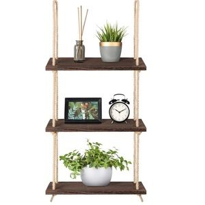 Wall Hanging Shelves Wood Shelf Rustic Storage